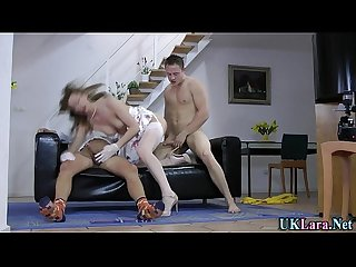 Mature slut takes cum