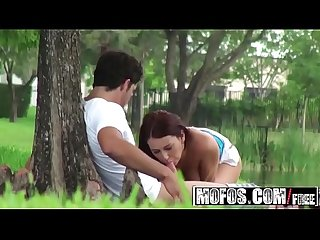 Pervy teen (Alexis Grace) fucks her bf out in a public park - MOFOS