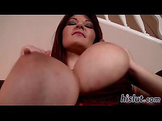 Redhead milf uses a dildo on her cunt