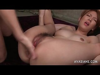 All her hairy asian holes explored in group orgy