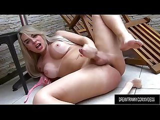 Curvy Tgirl Carol Penelope Masturbates and Fucks Her Big Ass with a Dildo