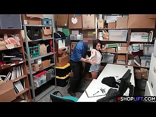 Young latina Teen isabella Nice gets caught stealing