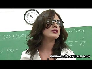 MILF professor fucks her students
