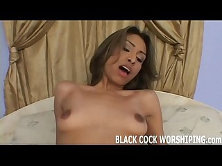 Watch his black cock beat up my tight white pussy