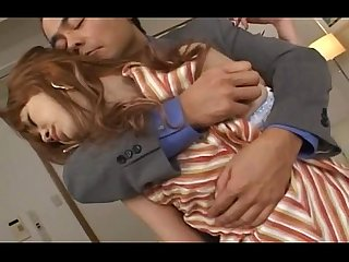 Sleeping japanese beauty anus banged