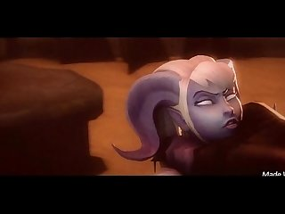 Sexy animated woman fucked hard