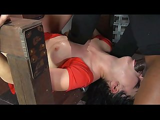 BDSM girl in gangbang and deepthroat - WATCH LIVE CAM AT ASS-SPANKING.COM