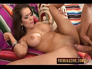 Hot latina daisy marie takes big cock
