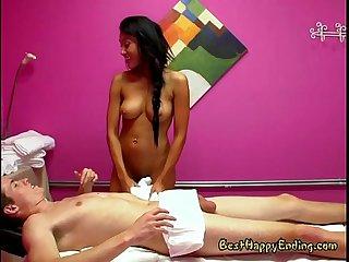 Slutty masseuse jayden lee milks her customer