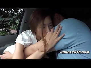 Korean Girl in car fucked silly