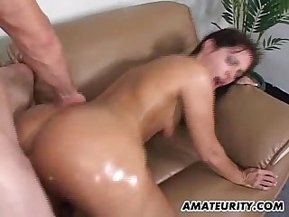 Hot amateur girlfriend sucks and fucks at home