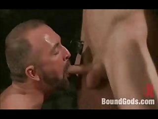 Nasty fuck and metal bondage for hot boys