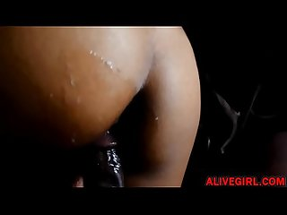 The gaiamonroe loves fucking with bbc and cumshot at her big black ass alivegirl
