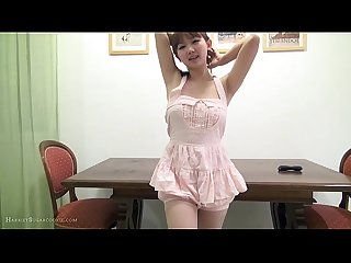 Busty hot jav girl in playsuit toys