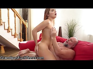 GrandpasFuckTeens Babe Caught & Punished for Faking Sick