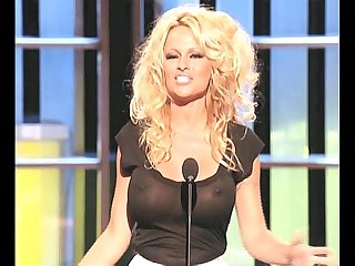 Pamela anderson busty in a see thru top