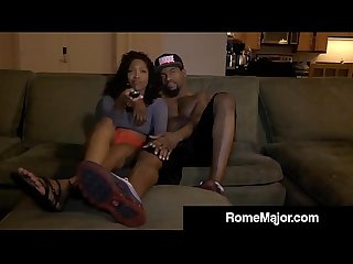 Horny Jayla Diamond Has Rome Major's Big Black Cock in 3Way!