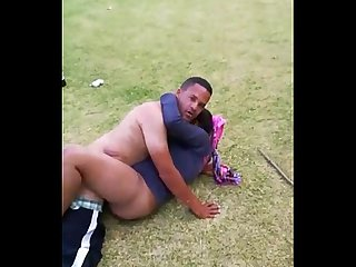 South African Couple Caught By Cops Fucking in the Park