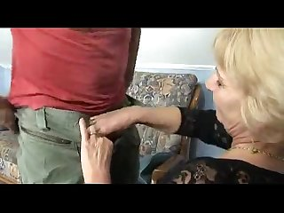 Horny granny gets fucked by a muscled guy sally g