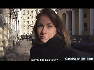 Fake casting with a real russian teen