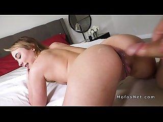 Big booty gf gets anal pounding