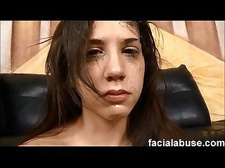 Young stuck up slut gets attitude adjustment at face fucking