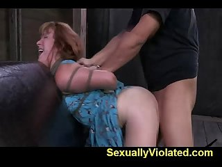 Redhead bounded to worship cock part 2 of 2