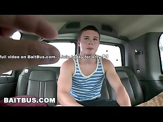 BAIT BUS - Young Studs Blake Savage and Koda Cummings Have Gay Sex In A Van