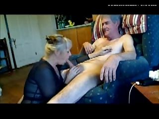 Blonde milf erica sucking cock of her lover