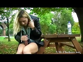 Public toy Fucking and outdoor dildo self pleasuring of exposed english Milf ema