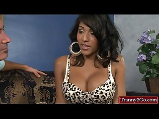Big boobs tranny Jane Marie anal railed
