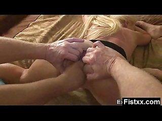 Yummy titty fisting woman screwed hard