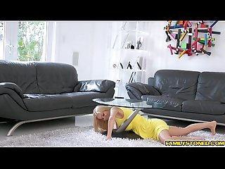 Alexis fawx blowjobs step sons big cock in the laundry alcove