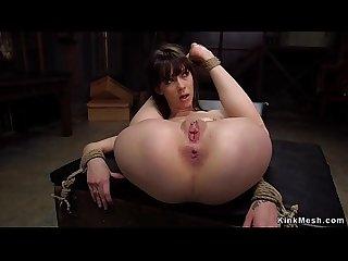 Skinny small tits slave anal training