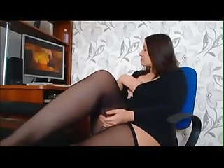 Chubby brunette masturbating on cam watch her live at www angelzlive com