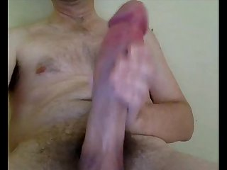 Huge cock in front of webcam