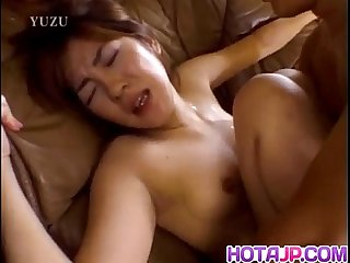 Michiru tamaki has dark nipples sucked and gets doggy style