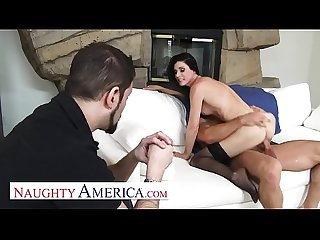 Naughty America - India Summer's husband cheated on her, so she invites her personal trainer..
