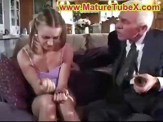 Teen fucked grandpa