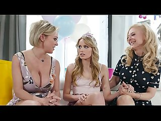 Stepmom And Grandma Initiate The Birthday Girl - Scarlett Sage, Nina Hartley, Dee..