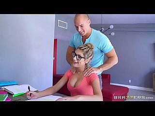 brazzers sexy nerd august ames needs a study break