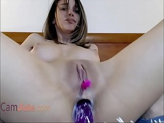 Big tits webcam girl squirting from pleasures