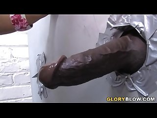 Kerry Louise Deepthroats and Fucks BBC - Gloryhole