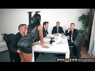 Brazzers - Real Wife Stories - The Dinner Party scene starring Adriana Chechik, Keiran..