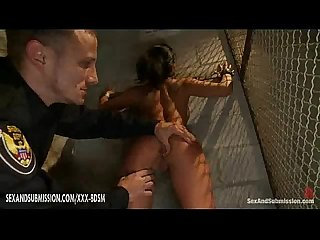 Police officer dominate on bondage asian girl