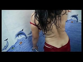 Hot babhi bathing scence