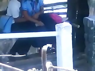 school students smooching kissing outdoor sex mms