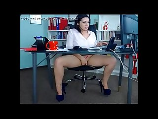 Sexy Milf Playing At Work