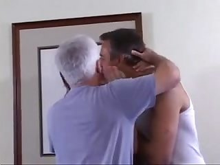 Three hot older guys fuck