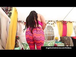 Cuban BBW Angelina Castro & Latina Cristi Ann Bang Pussies!